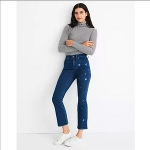 Madewell Cali Demi Boot Jeans. Star Edition